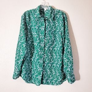 Jcrew button up long sleeve blouse